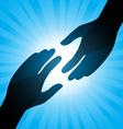 handshake background vector image