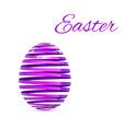 Easter Egg Ribbon Isolated on white vector image