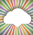 Speech cloud template vector image vector image