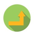 Arrow right-up icon flat style vector image