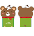 Bear with hat card vector image