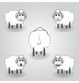 cartoon of sheep vector image