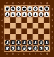 chess table game set of black and white figures vector image
