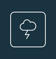lightning outline symbol premium quality isolated vector image