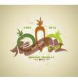 Organic farm food label vector image