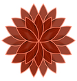 Red flower lotus on white background isolated vector image