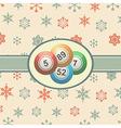 Vintage Christmas background with bingo balls vector image