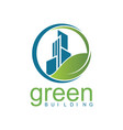 Green building logo vector image