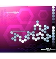 Hexagon pink futuristic background abstraction vector image vector image