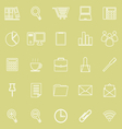 Office line icon on yellow background vector image vector image