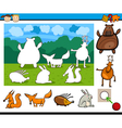 kindergarten cartoon game vector image