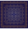 Blue handkerchief with golden ornament vector image