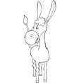Fun outline donkey vector image