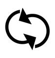 refresh circular arrows icon vector image