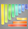 Color ribbons vector image