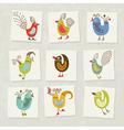 character birds vector image