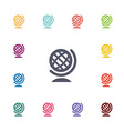 globe flat icons set vector image