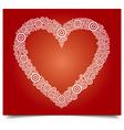 heart white circle vector image