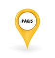 Location Paris vector image