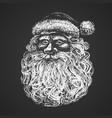 santa face chalk drawing vector image
