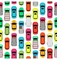 Seamless Pattern Cars on Parking Endless Texture vector image