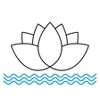 The lotus flower on the water icon vector image