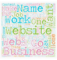 Your Own Web Based Home Business text background vector image