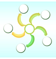 scheme of a choice of a ripe banana vector image vector image