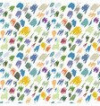 black ink spots isolated on background vector image