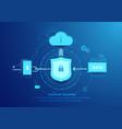 Internet security line flat style design vector image