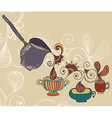 Coffee Background with cups vector image