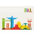 Brazil tourism skyline vector image