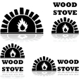 Wood stove and oven vector image vector image
