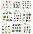 Set of abstract paper elements infographics vector image vector image