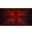 red uk number flag vector image vector image