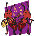Ant Sing vector image