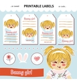 collection printable gift tag labels vector image