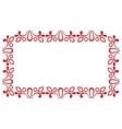 Red ornamental frame vector image