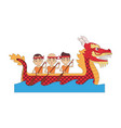 chinese people on dragon boat vector image
