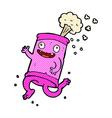 comic cartoon crazy soda can vector image