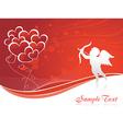 Cupid heart vector image