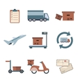 Delivery icons set shipping Service collection vector image