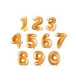golden number set balloon vector image