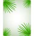 palm branch 02 vector image