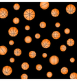 pattern with basketball vector image