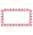 Red ornamental frame vector image