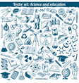 Science And Education Doodles Icons Set vector image