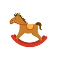 horse wood toy icon vector image