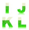 alphabet green beer IJKL vector image