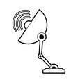 sketch silhouette image satellite antenna vector image